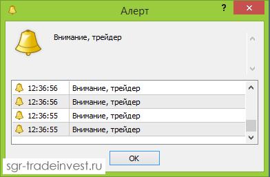 MQL4: работа функции Alert