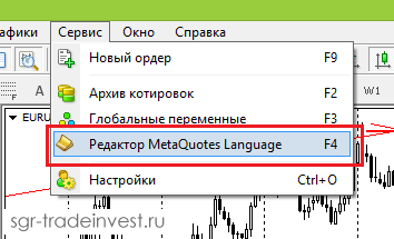 Редактор MetaQuotes Language