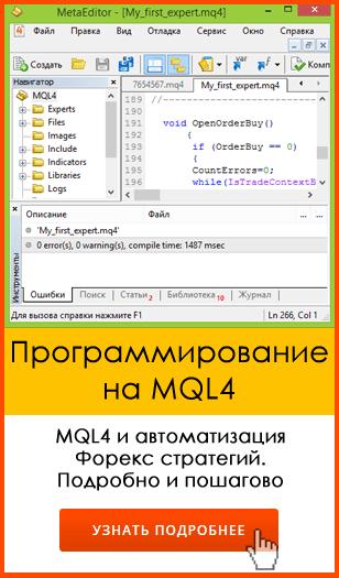 MQL4 программирование